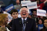 El senador Bernie Sanders, en Manchester (New Hampshire).