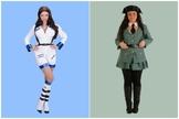 Imagen de los disfraces que se vendían en Carrefour
