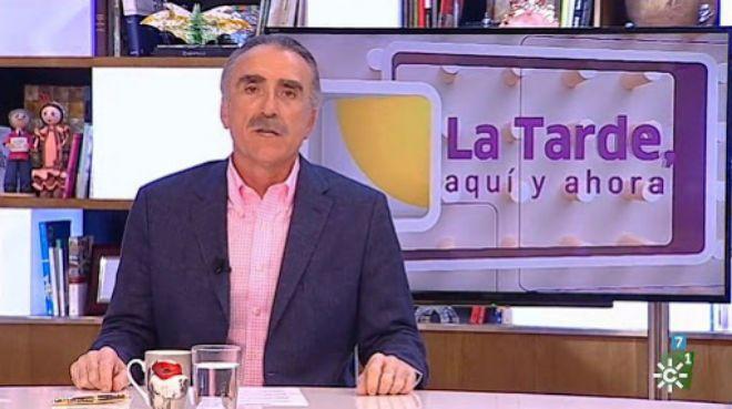 El presentador, en su programa 'La tarde, aquí y ahora'.