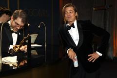 Oscars 2020: Brad Pitt, ganador del Oscar al mejor actor de reparto.