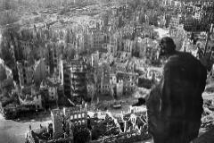 Dresde tras los bombardeos masivos de la aviación aliada.