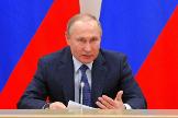El presidente ruso, Vladimir Putin, en una reunión en Moscú.