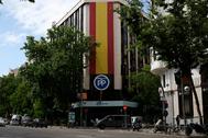 Fachada de la sede nacional del PP, en la madrileña calle Génova.