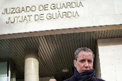 El ex presidente valenciano y ex ministro Eduardo Zaplana, en los juzgados de Valencia, el 11 de febrero de 2019