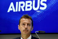 El director ejecutivo de Airbus, Guillaume Faury, en una rueda de prensa en París en junio de 2019. Fotografía de archivo.