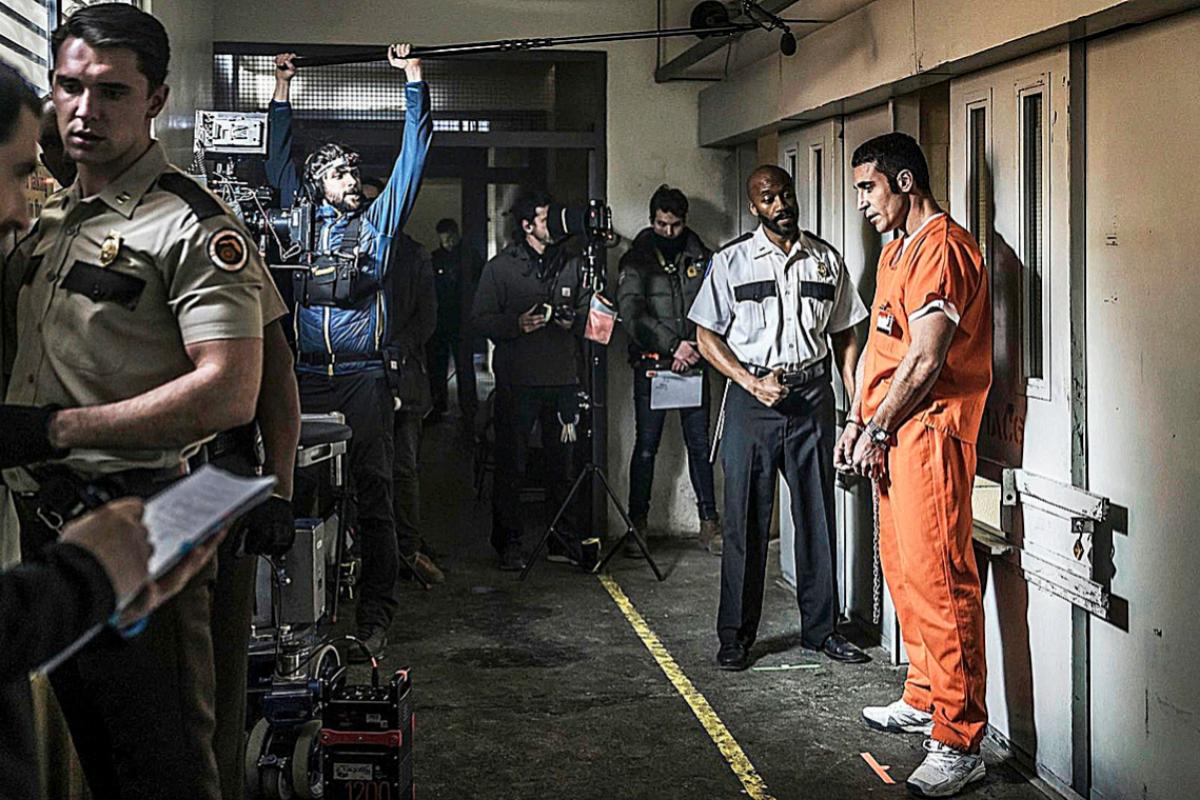 Rodaje de la serie de Movistar En el corredor de la muerte
