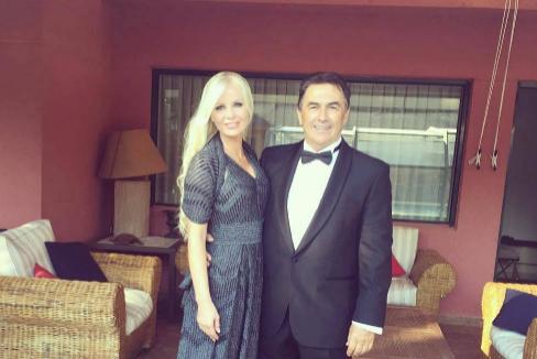 Pedro Campos y su mujer, la brasileña Cristina Franze.