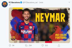 Una imagen del hackeo sufrido por el Barcelona este sábado.