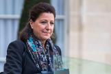 Agnès Buzyn abandonando el Palacio del Elíseo, en París.