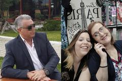 A la izquierda, imagen del estafador, supuesto trabajador de la ONU. A la derecha, Olga y su hija Daniela.