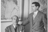 Vicente Aleixandre y Gregorio Prieto hacia 1935.