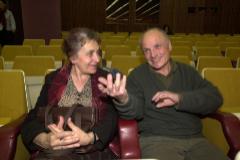 María Moreno y Antonio López, en Bilbao, en 2002.