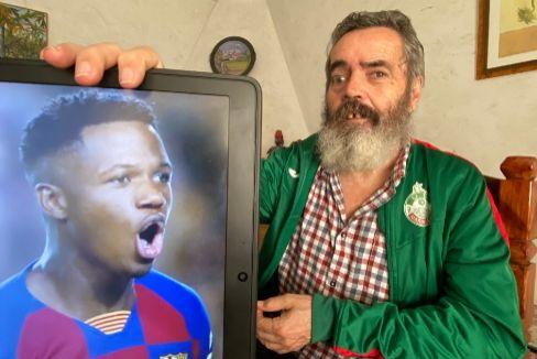 Ansu Fati, el niño gol de Marinaleda, traído por una cadena de solidaridad