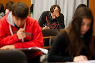 Alumnos de 4º de la ESO de un colegio valenciano durante una prueba diagnóstica.