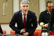 El ministro del Interior, Fernando Grande-Marlaska, este lunes, en el Congreso.