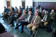 Los ex altos cargos de la Junta enjuiciados por los ERE, en la Audiencia de Sevilla.