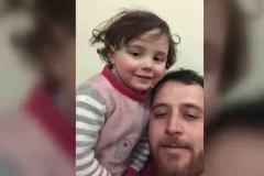 La Vida es Bella, en Siria: un padre y su hija se ríen de las bombas
