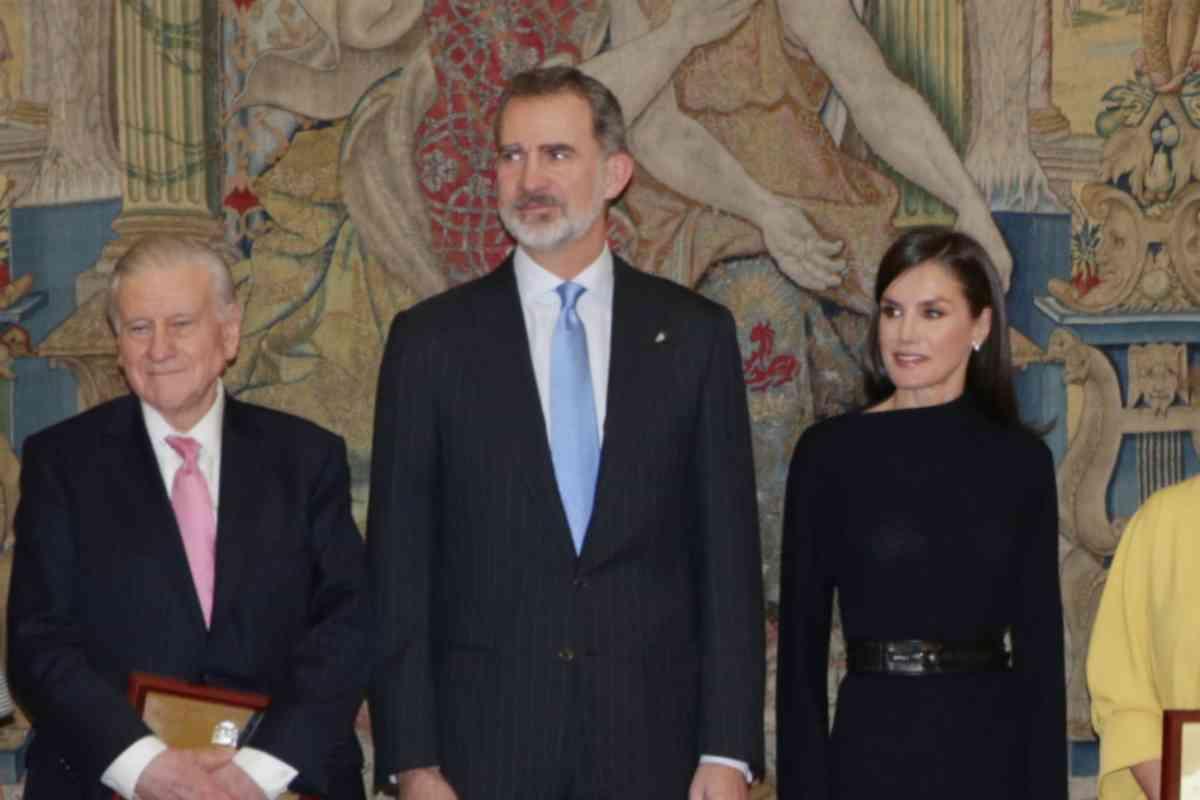 Valentín Fuster, junto a los Reyes Felipe y Letizia.
