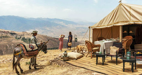 Acampada de lujo en medio del desierto de Agafay.