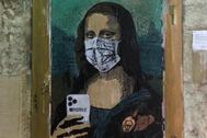 'Mobile World Virus', la reinterpretación de la Gioconda de TVBoy en Barcelona.
