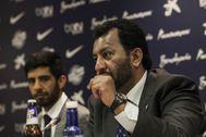 Al Thani, en una conferencia de prensa.