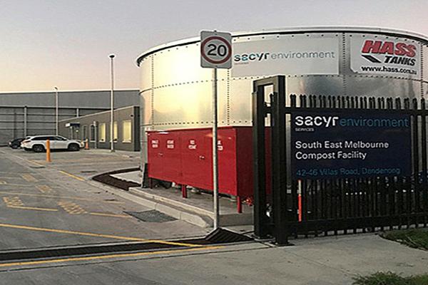 La planta de residuos orgánicos de Sacyr es la primera que inaugurará en Australia.
