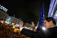El presidente encargado de Venezuela, Juan Guaidó, en su visita a Madrid, el pasado 25 de enero.