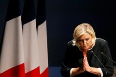 La líder de la extrema derecha francesa, Marine Le Pen.