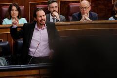 Pablo Iglesias, en un momento de su intervención en el Congreso de los Diputados.