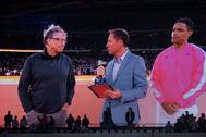 Bill Gates, primero por la izquierda, durante un torneo benéfico en Sudáfrica