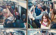 Las cámaras recogen las imágenes de los trenes saturados de gente.