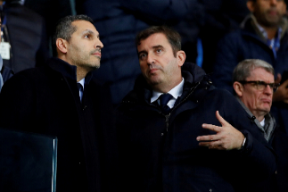 "FILE PHOTO: Soccer Football - Premier League - Manchester City v Manchester United - Etihad Stadium, Manchester, Britain - December 7, 2019 Manchester City Chairman Khaldoon Al Mubarak and Chief Executive lt;HIT gt;Ferran lt;/HIT gt; lt;HIT gt;Soriano lt;/HIT gt; in the stands Action Images via Reuters/Jason Cairnduff/File Photo EDITORIAL USE ONLY. No use with unauthorized audio, video, data, fixture lists, club/league logos or ""live"" services. Online in-match use limited to 75 images, no video emulation. No use in betting, games or single club/league/player publications. Please contact your account representative for further details"