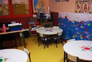 El despacho del colegio Agustín de Arguelles de Alcorcón donde dan clase.
