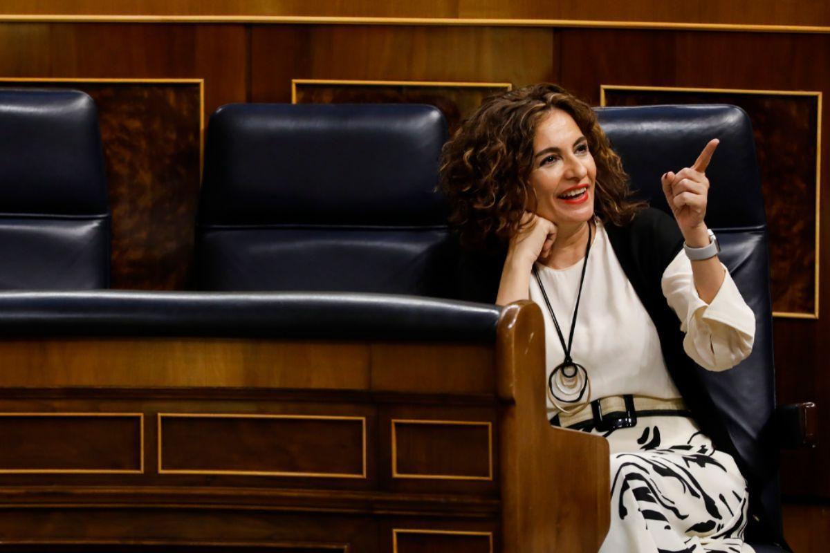 La ministra de Hacienda, María Jesús Montero, este martes en el Congreso de los Diputados.