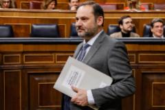 El ministro de Transportes, José Luis Ábalos, este miércoles, en el Congreso.