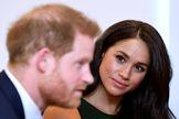 El príncipe Harry, junto a su esposa, Meghan.