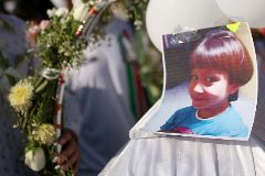 Funeral of seven-year-old lt;HIT gt;Fatima lt;/HIT gt; Cecilia Aldrighett in Mexico City