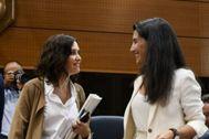 Isabel Díaz Ayuso (PP) y Rocío Monasterio (Vox).