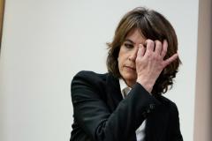 La futura fiscal general del Estado, Dolores Delgado, este jueves, en la Comisión de Justicia del Congreso.