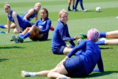 Uno de los entrenamientos de la selección de EEUU durante el pasado Mundial, con Megan Rapinoe, de espaldas.