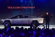 Elon Musk, en la presentación del Cybertruck en Los Ángeles.