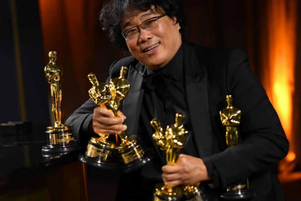 El director surcoreano Bong Joon Ho en la gala de los Óscar en Hollywood.