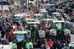 Agricultores y ganaderos de Navarra en una manifestación de esta semana
