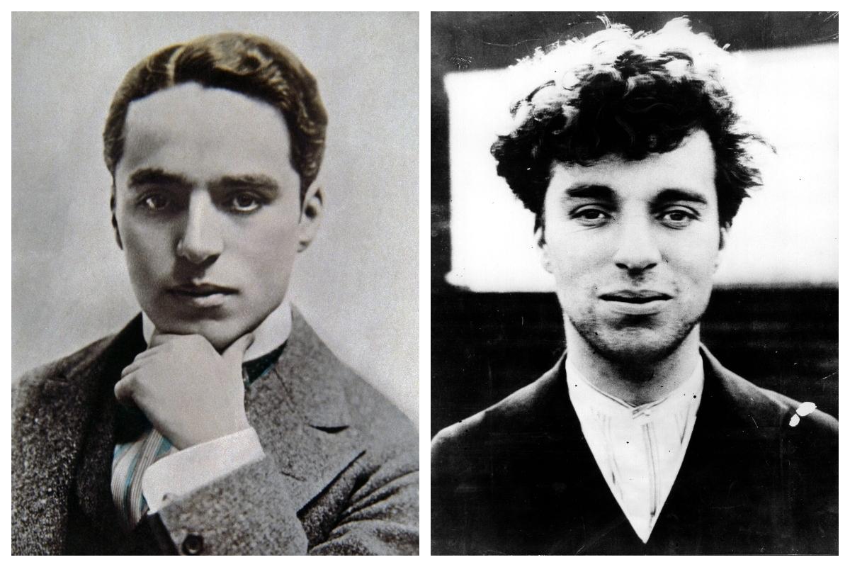 Chaplin, en dos fotografías de su juventud.