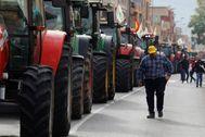 Manifestación de tractores en Murcia