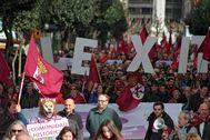 Manifestación del domingo en León.