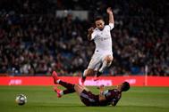 El jugador del Real Madrid Dani Carvajal