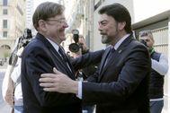 El alcalde Luis Barcala (PP) recibe al presidente de la Generalitat Ximo Puig (PSPV-PSOE).