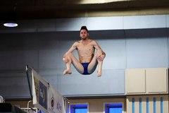Boudia, durante uno de sus saltos del domingo en Madrid.