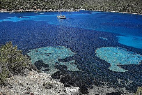 Aguas de la isla de Cabrera, al sureste de Mallorca.